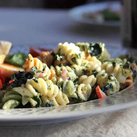 Tommy's Super Green Pasta Salad with Yogurt & Citrus Dressing
