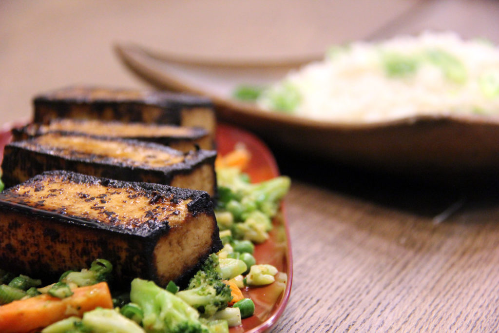 grilled tofu recipe and vegetables