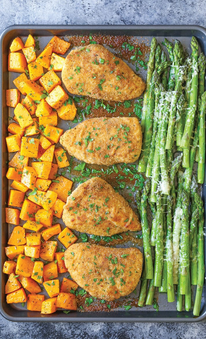 one-pan-baked-chicken-with-butternut-squash-and-parmesan-asparagus-1
