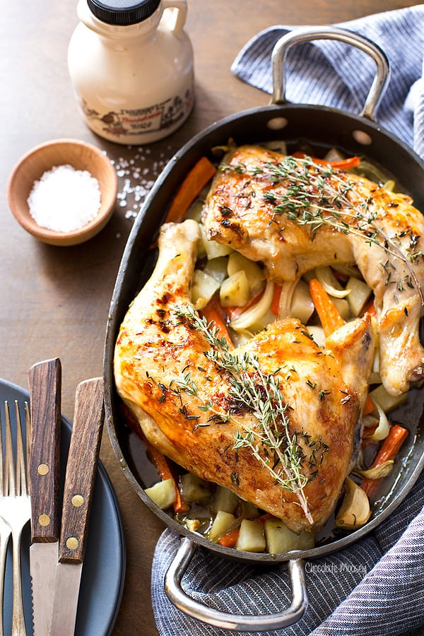 Valentines Day Recipes: Maple Roasted Chicken