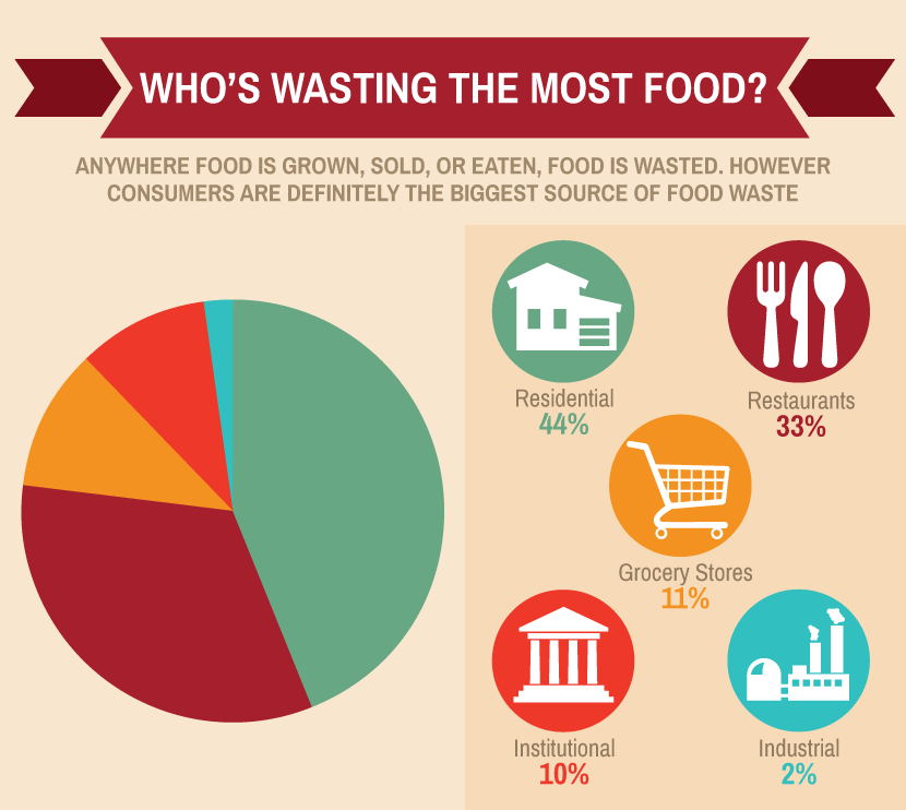 who's wasting the most foods
