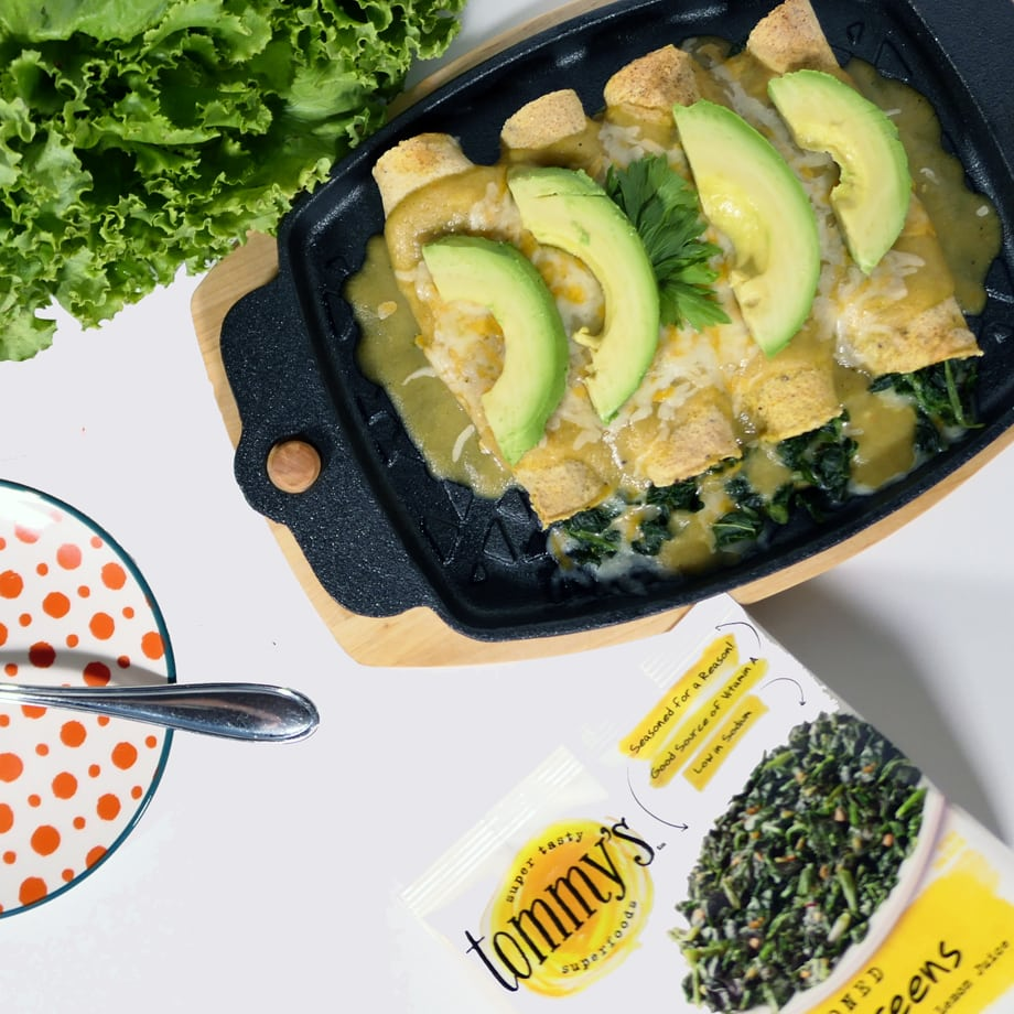 enchiladas with super greens