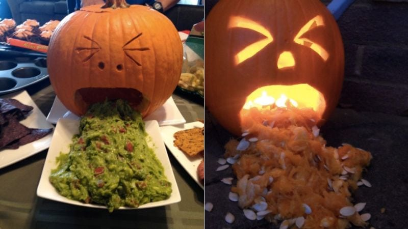 scary puking pumpkins