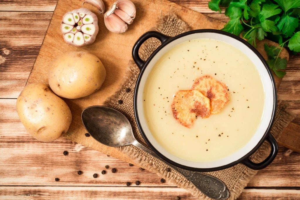 thicken soup with potatoes