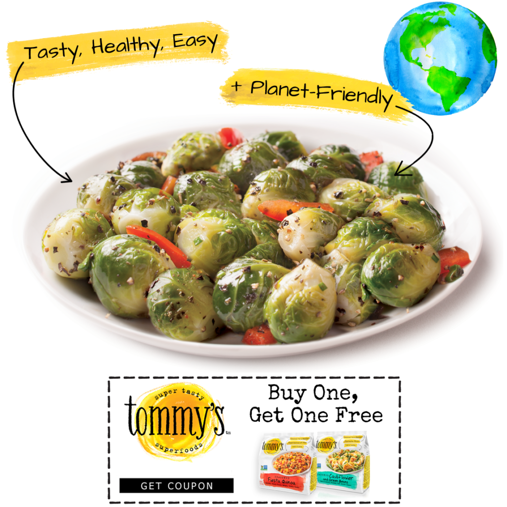 get a coupon for buy one, get one free Tommy's Superfoods