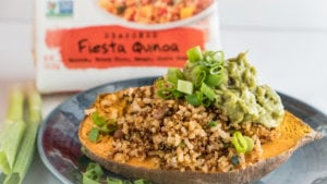 Baked Sweet Potato with Tommy's Fiesta Quinoa