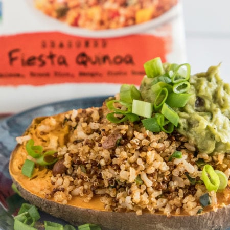 Southwest Baked Sweet Potato with Tommy's Fiesta Quinoa