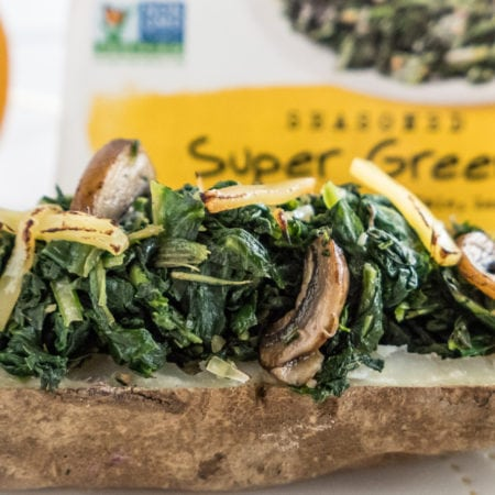 Baked Potato with Tommy's Super Greens & Smoked Gouda