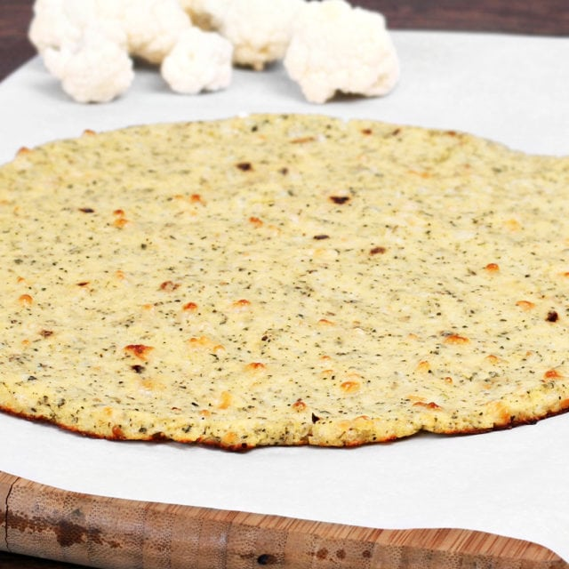trendy food - cauliflower pizza crust