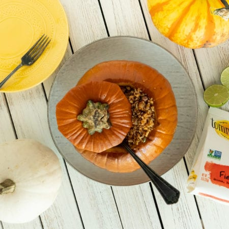 Vegetarian Southwest Stuffed Pumpkin