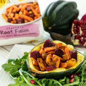 roasted acorn squash with root fusion
