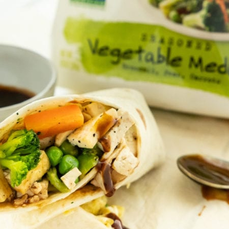 Vegan Asian Breakfast Burrito