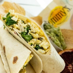 asparagus and kale breakfast burrito