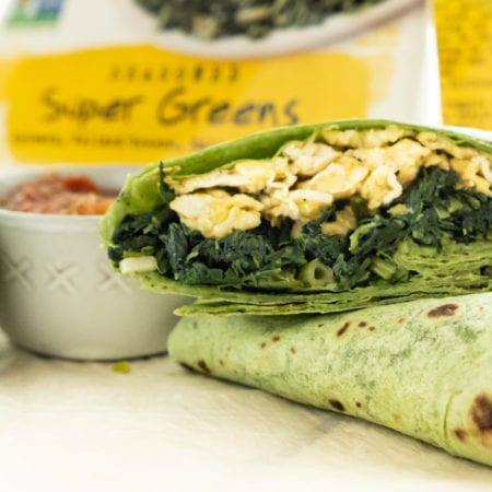 Super Greens, Egg & Cheddar Burrito