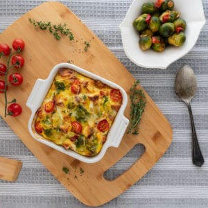 Brussels Sprouts Egg Frittata