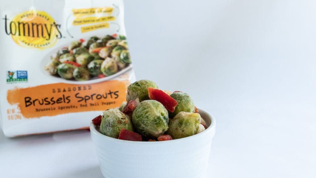 Frozen Brussels Sprouts vegetable medley by Tommy's Superfoods